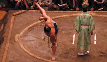 A sumo wrestler in Japan