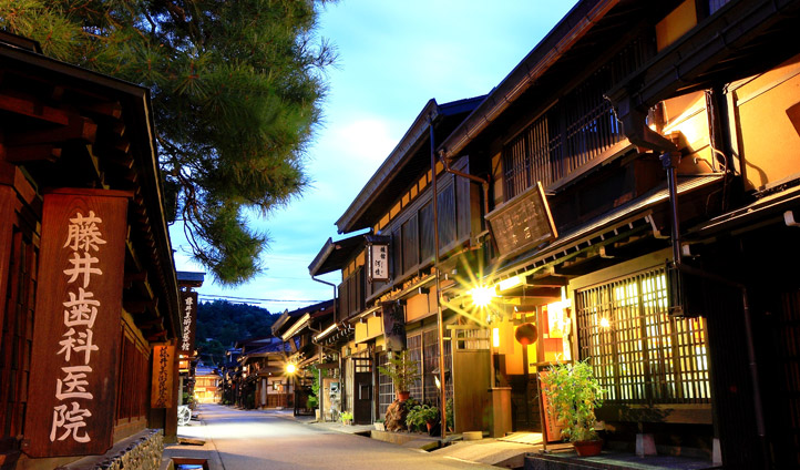 Night time in Takayama, Japan