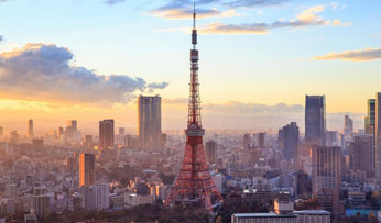 Tokyo Tower at sunset