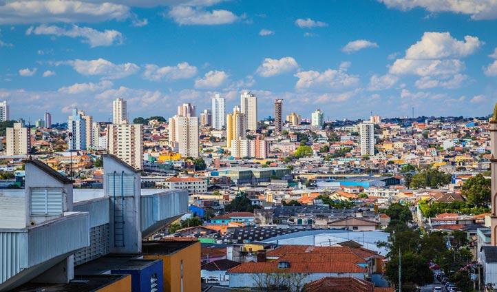 Sao Paolo's skyline, Brazil