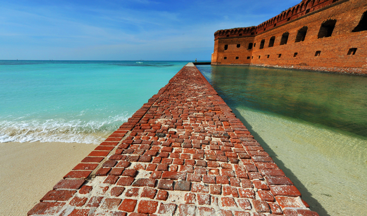 Fort Jefferson in The Florida Keys, USA