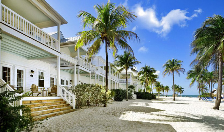 Cottages on the sand at Tranquility Bay Resort, Florida Keys, USA