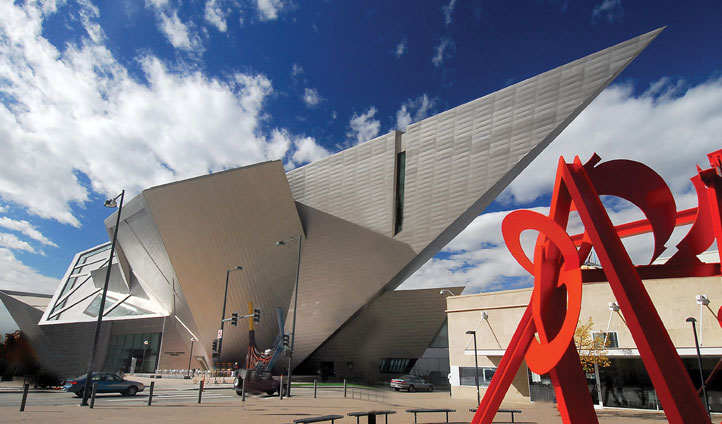 Exterior of Denver Art Museum