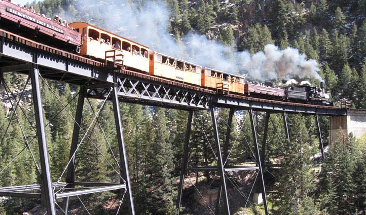 Historic steam train, Colorado