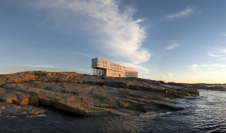 Luxury hotel in the mysterious land of Fogo island - Photo © Alex Fradkin