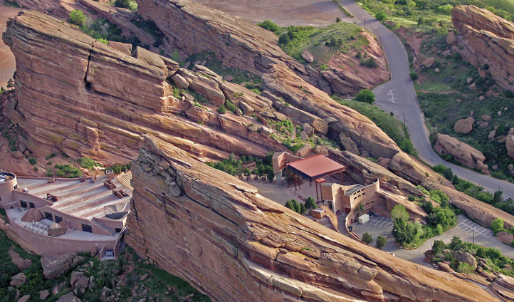 Aerial view of Red Rocks, Colorado