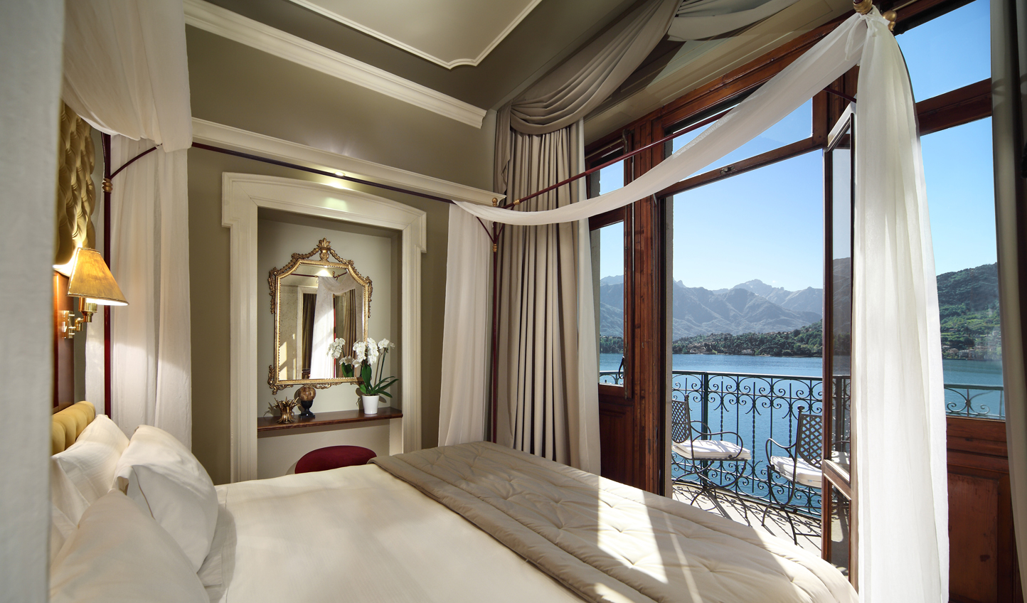 Gaze across Lake Como from the stunning Maria Suite
