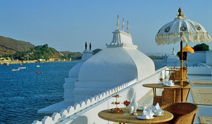 Enjoy drinks with a view Taj Lake Palace