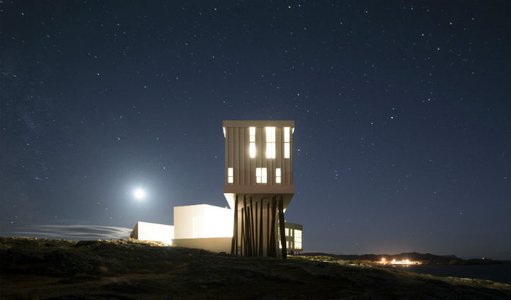 The hotel is situated in a vast, jagged landscape - Photo © Alex Fradkin