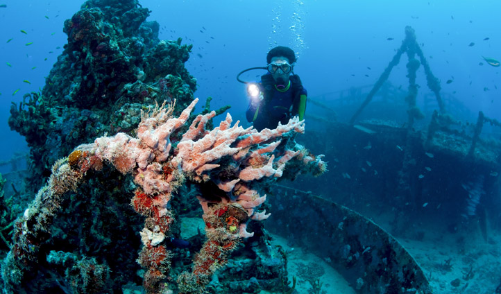 Spiegel Grove dive site, The Florida Keys, USA