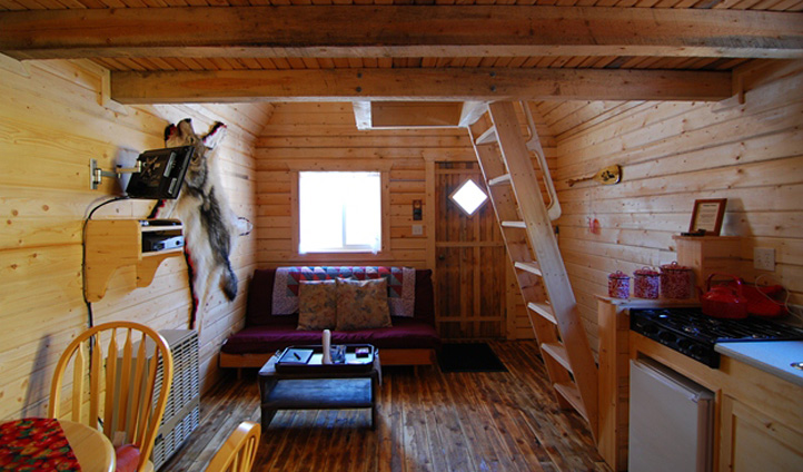 The Cabins are authentically furnished.