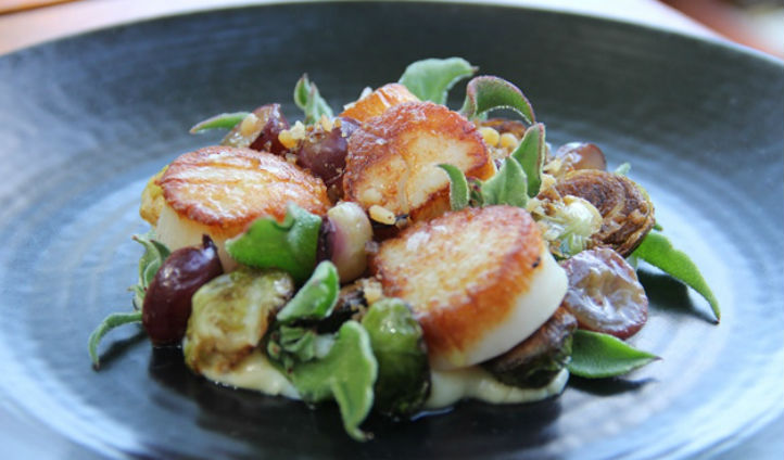 Fresh Day Boat Scallops at The Grill