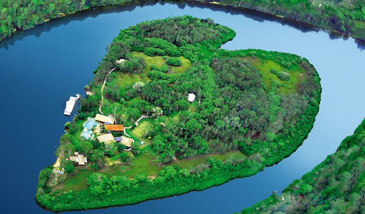 Makepeace Island - aerial view