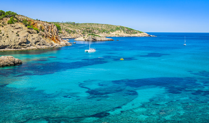 Cala Benirras beach in Ibiza