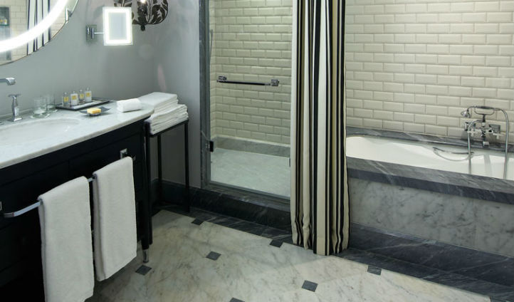 Marble and tiled bathrooms