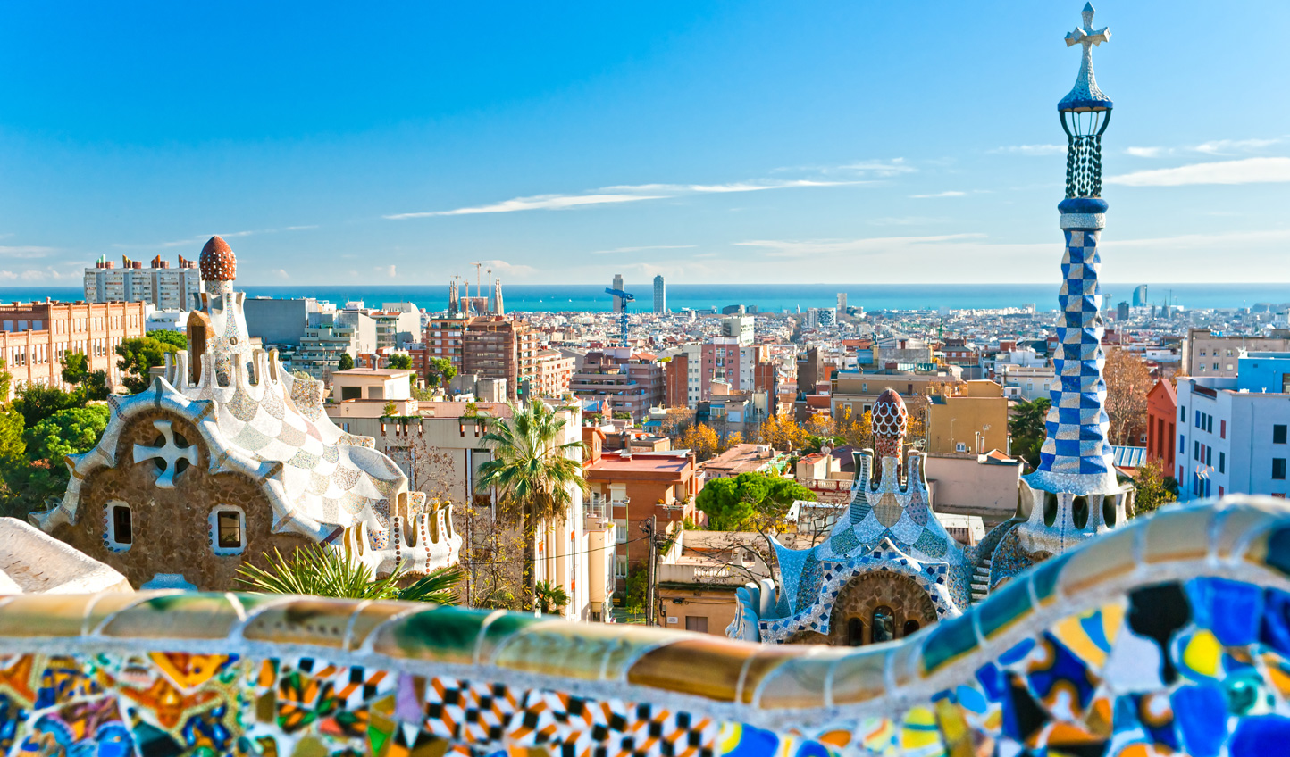 Enjoy views across the city from Park Guell