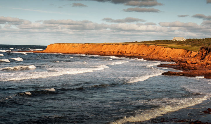 Rugged coastlines of Prince Edward Island, Canada