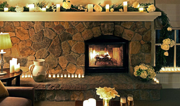 Romantic Fireplace Glow