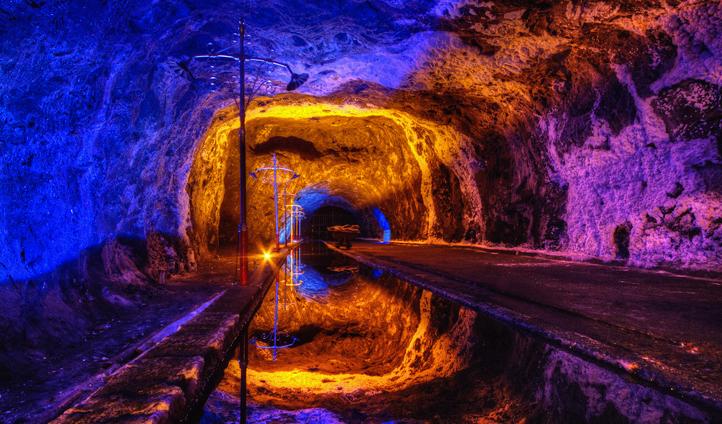 The colourful salt mine in Nemocon, Colombia