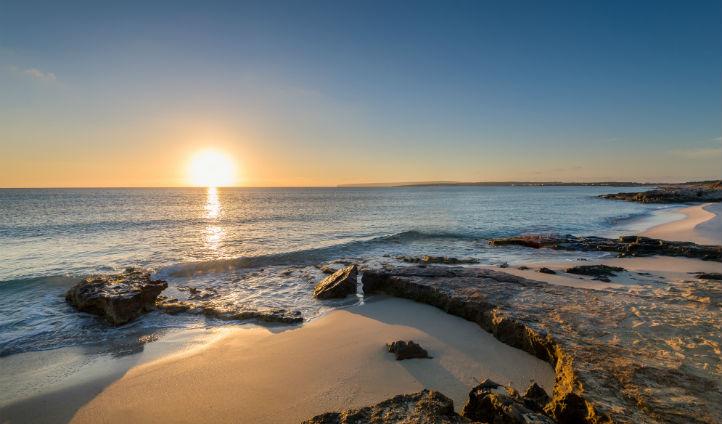 Sand beaches at Formentera