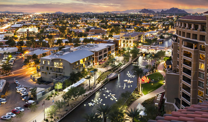 Sunset over Scottsdale, Arizona, USA
