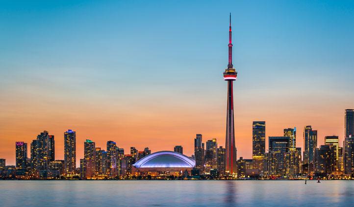 Toronto's skyline in Canada