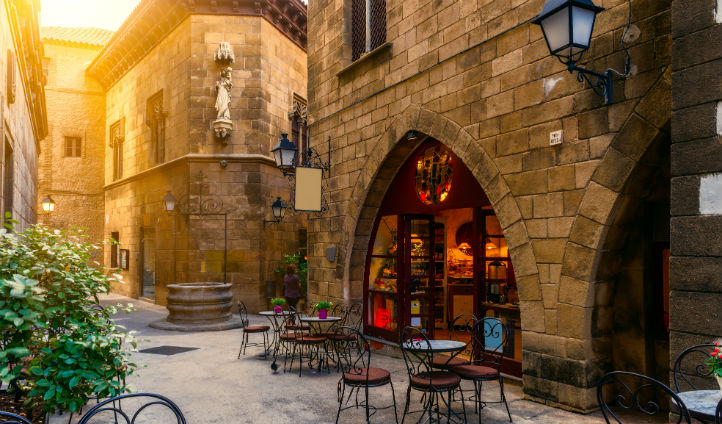 Traditional architecture in Barcelona