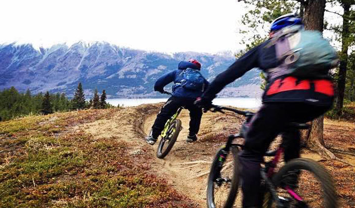 The cycling trails of the Yukon, Canada