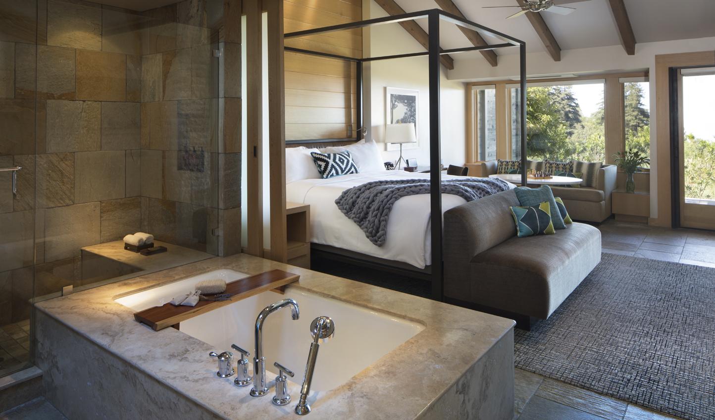 Stunning open plan guest rooms