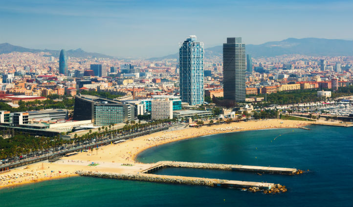 View of Barcelona from the sky