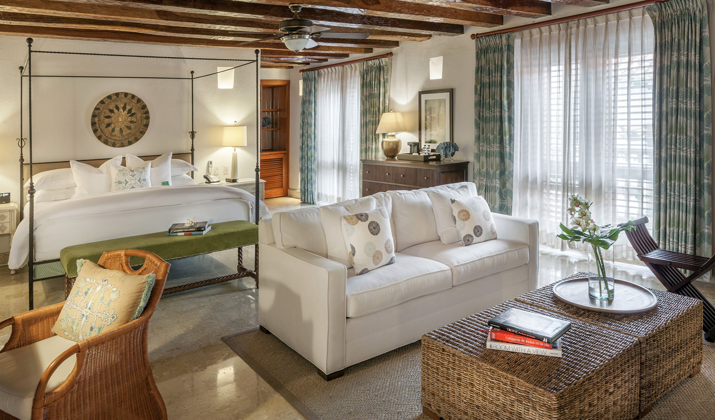 A touch of colonial charm in the luxurious guestrooms