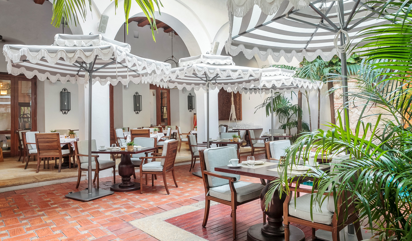Dine out in the charm of the courtyard