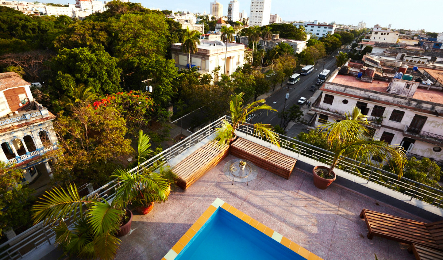 Take a dip in your private rooftop pool and enjoy views over Havana