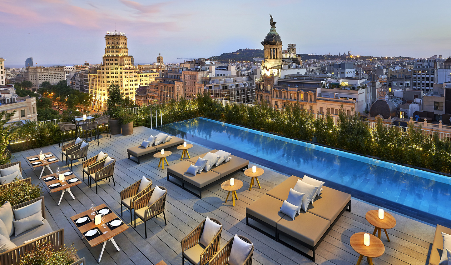 Soak in the Barcelona atmosphere from the stunning Mandarin Oriental roof terrace