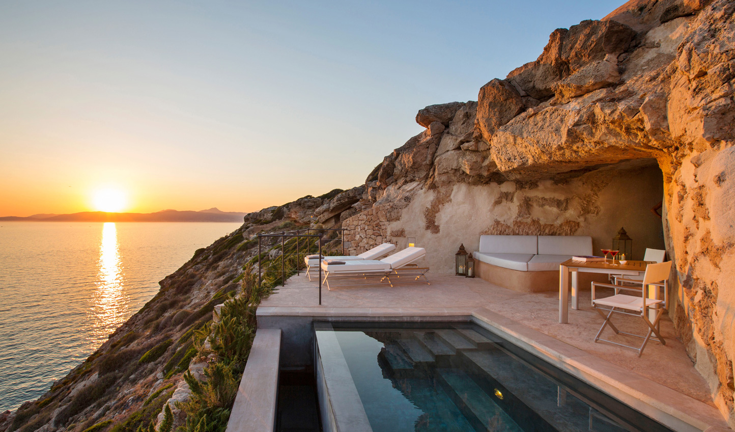 Watch the sunset from your private terrace at Cap Rocat