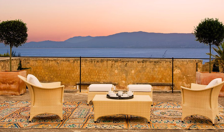 Watch the sunset from the terrace