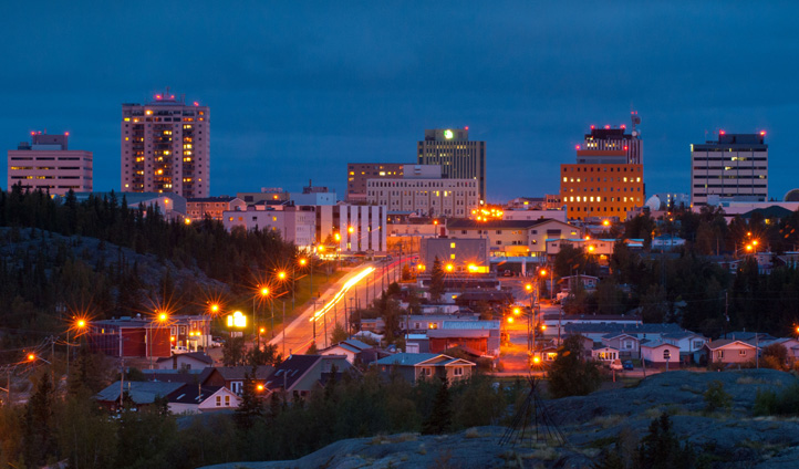 Yellowknife by night, Northwest Territories