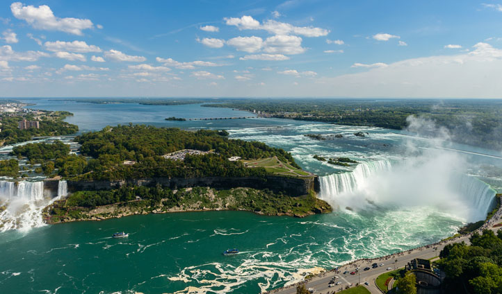 Aerial views of Niagara Falls, Canada