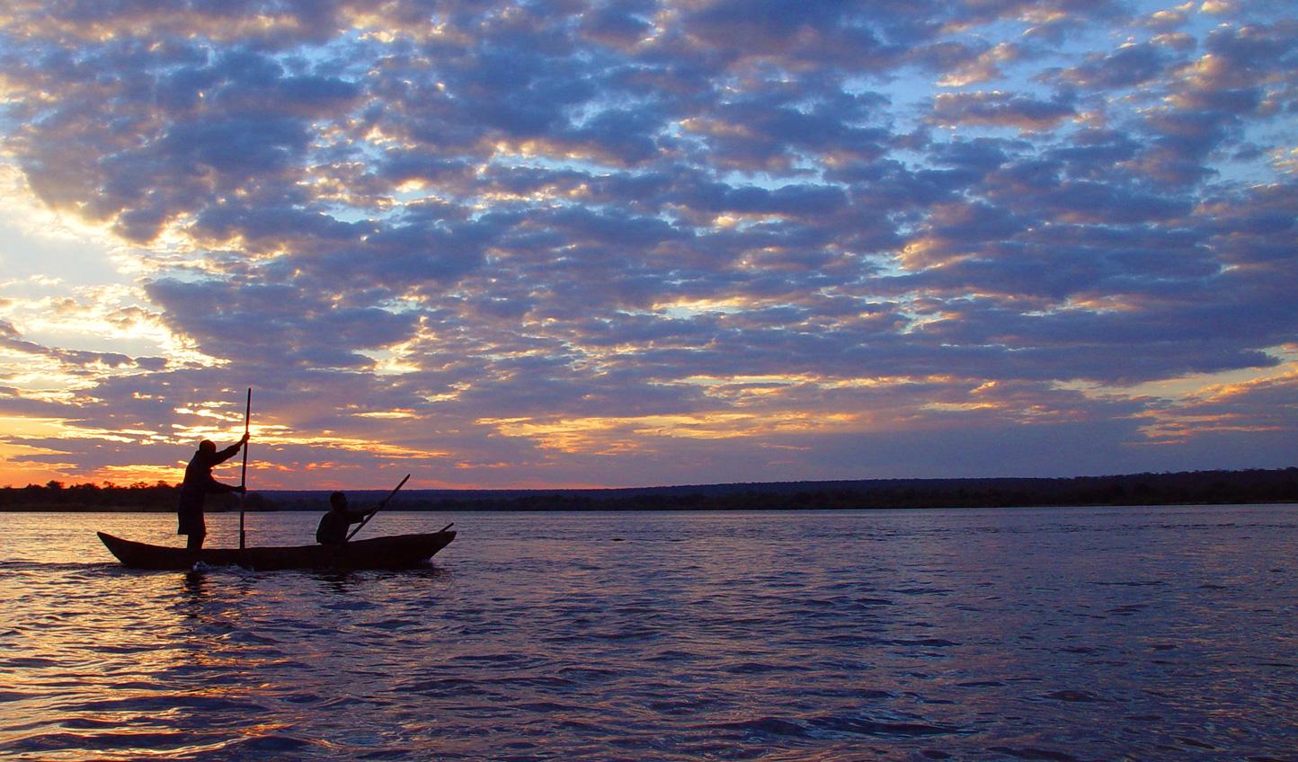 Take a canoe cruise down the Zambezi