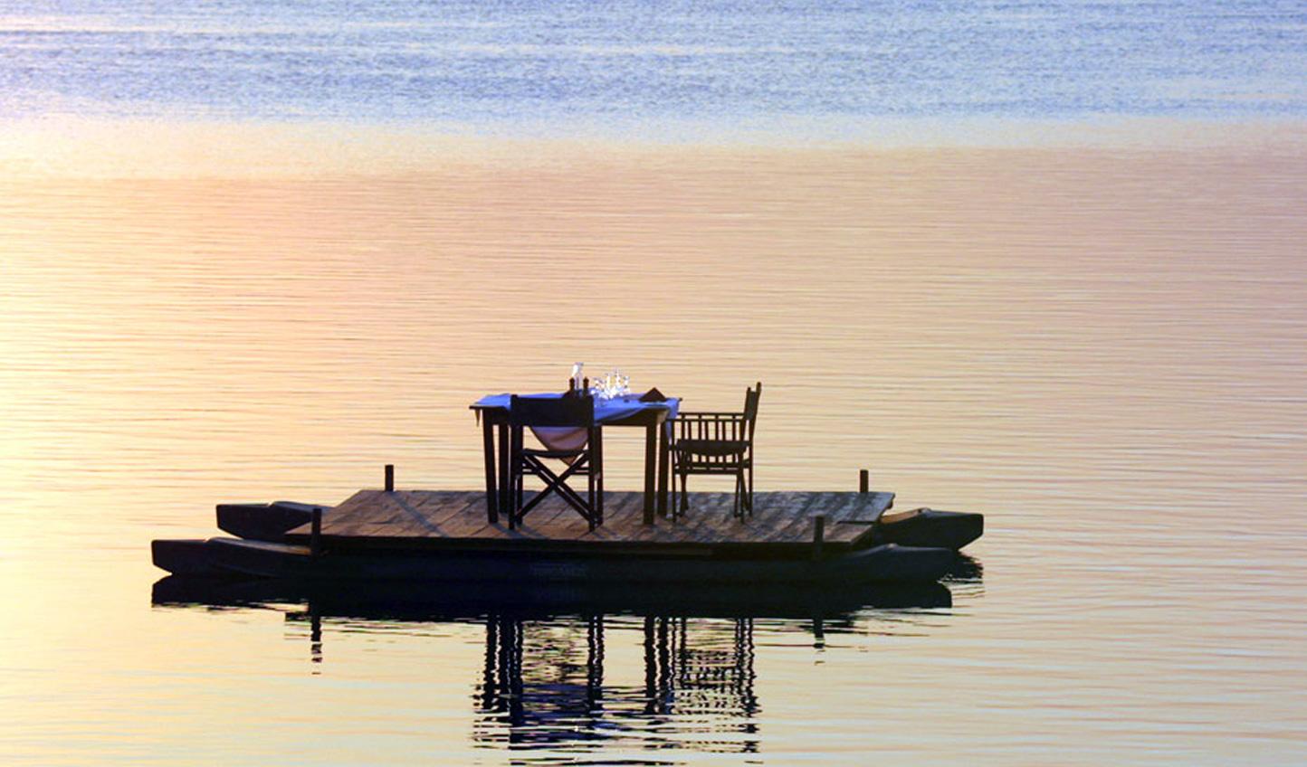 Have a romantic sampan dinner on the Zambezi river