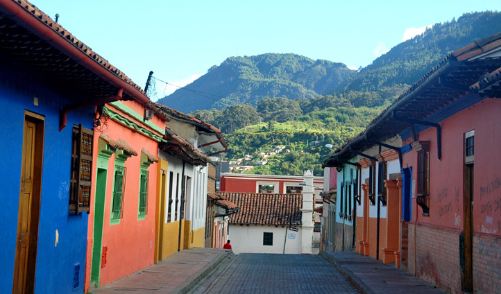 Colourful buildings in Bogota, Colombia