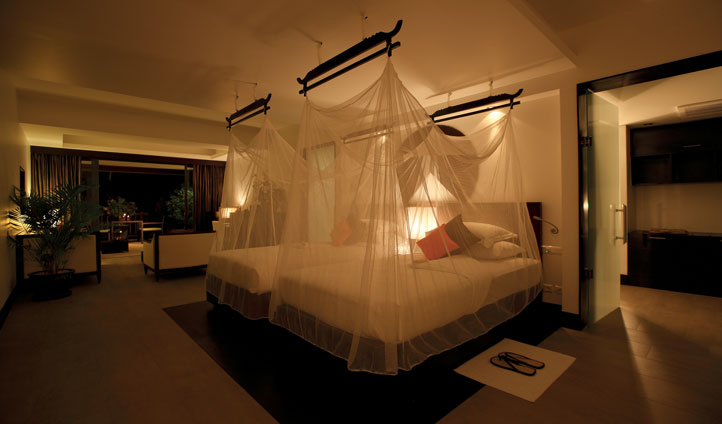 Sleep like a queen under the chic nets dangling from your bed
