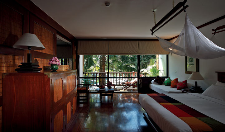 Enjoy the views of the surrounding luscious green foliage from your suite