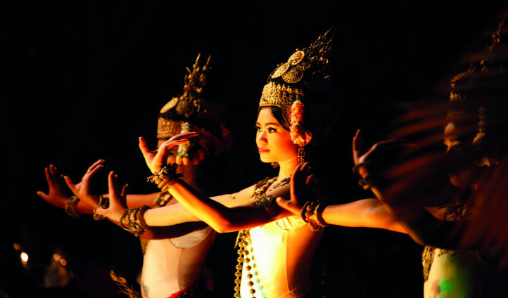 Experience traditional Cambodian dances during your stay