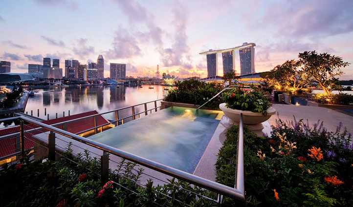 Take a dip in the rooftop Jacuzzi and admire the breath-taking views