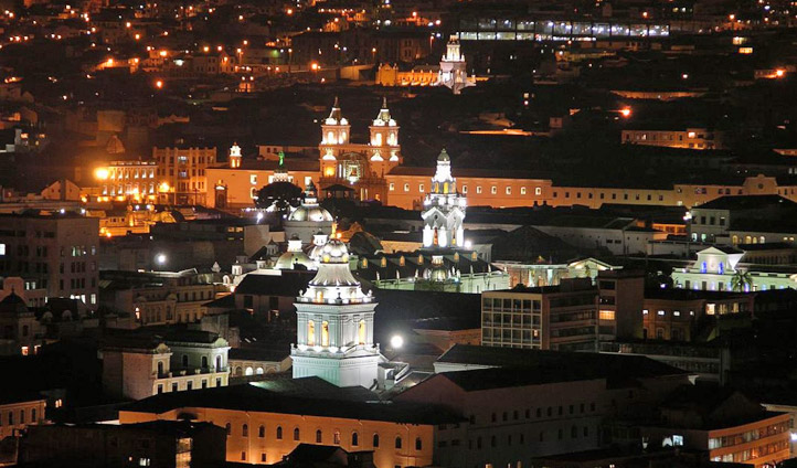 Quito at night time, Ecuador