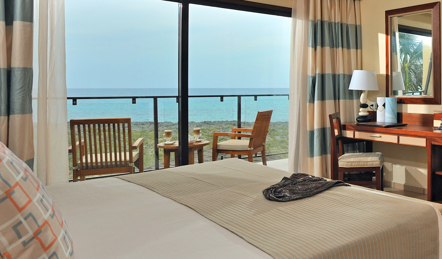 Wake up to views across Caribbean waters