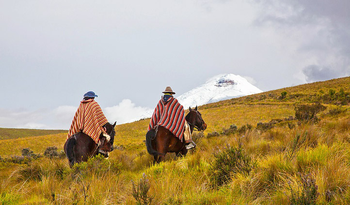 Horse riding in Quito, Ecuador