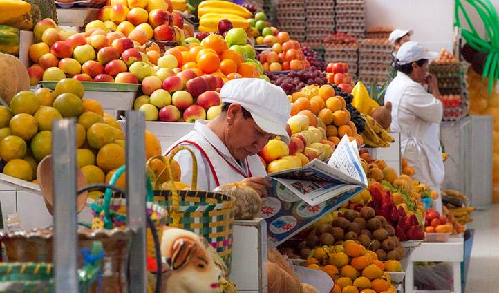 A market in Quito