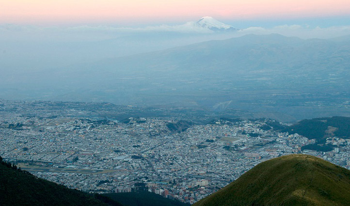 A view over Quito